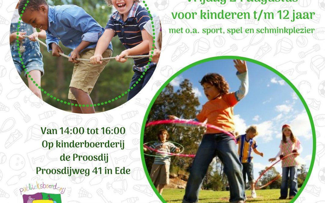 Aanstaande vrijdagmiddag: Buurtspeeldag Veldhuizen!
